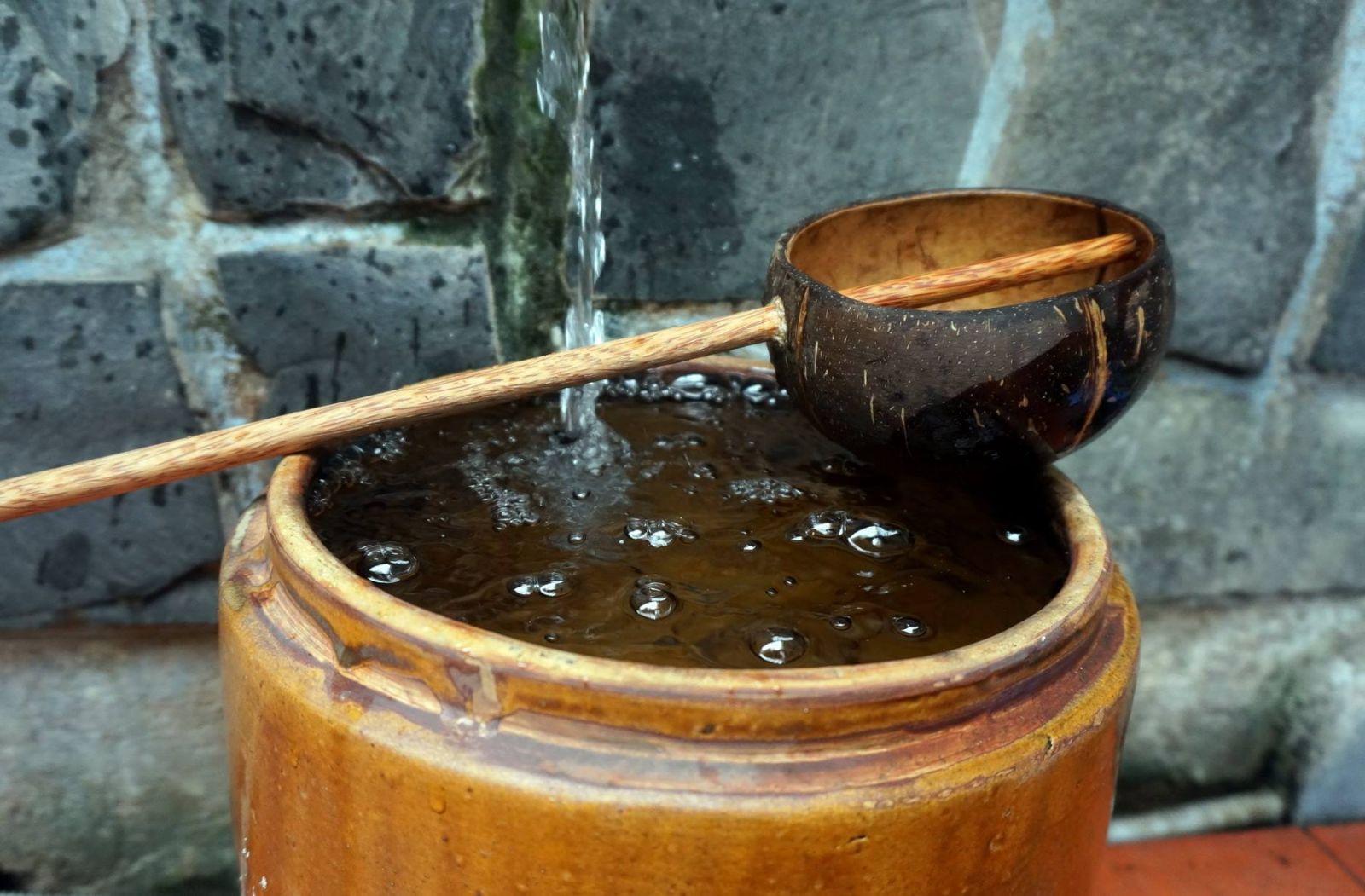 gáo dừa mức nước